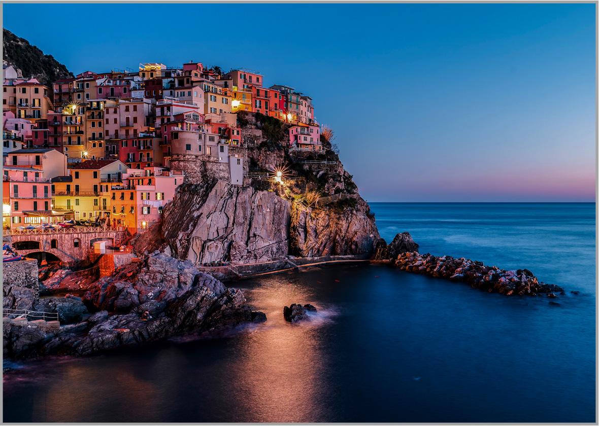 LED Bild Cinque Terre