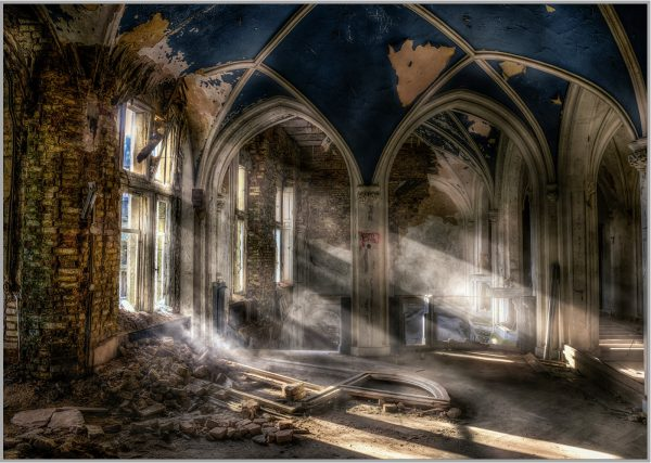LED Bild Lost Place Church