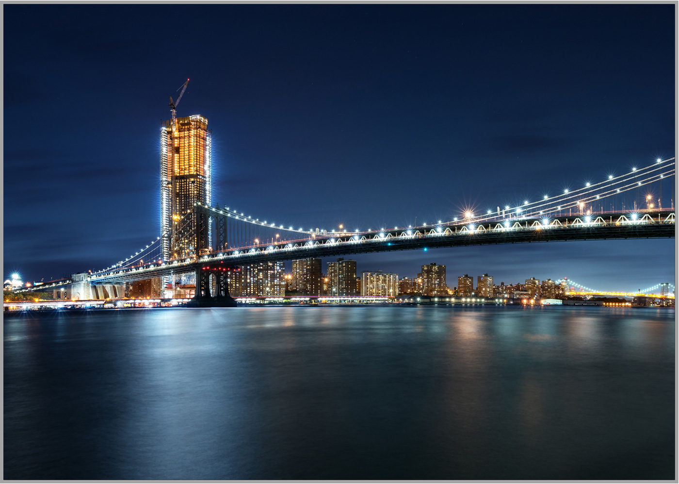 LED Bild Manhattan Bridge