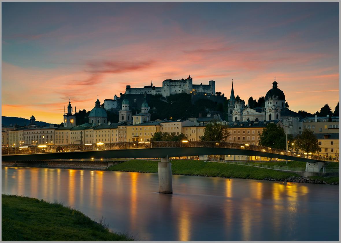 LED Bild Salzburg Sunrise