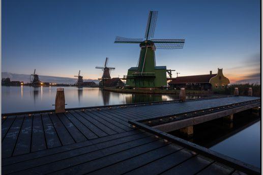 LED Bild Windmühle Holland
