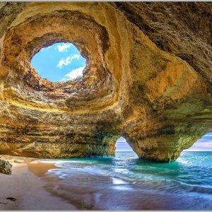 LED Bild Benagil Cave