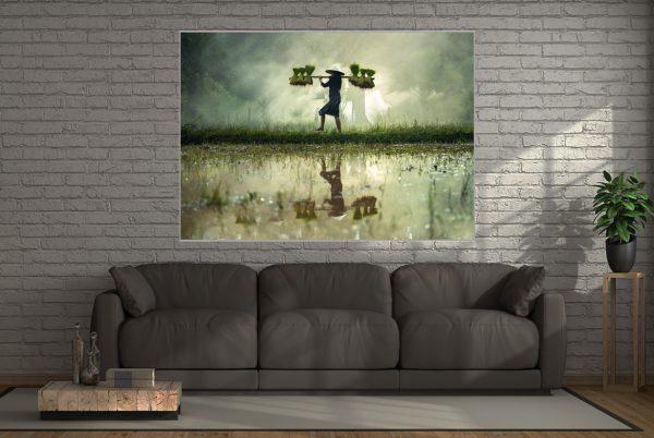 Reisfeld LED Bild