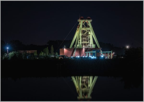 LED Bild Zeche Haus Aden
