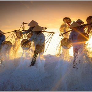 LED Bild Salzfelder Vietnam