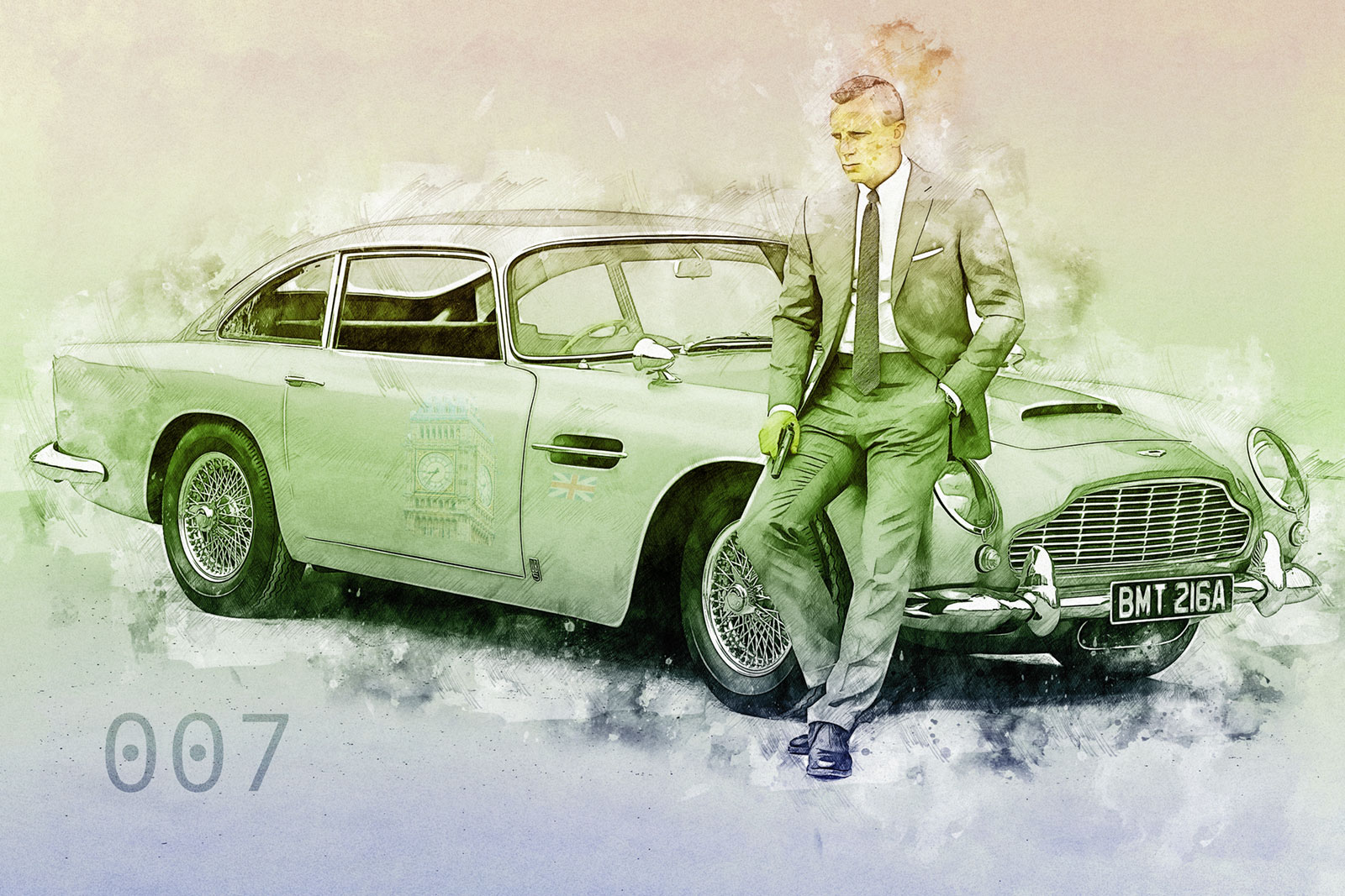 LED Bild James Bond