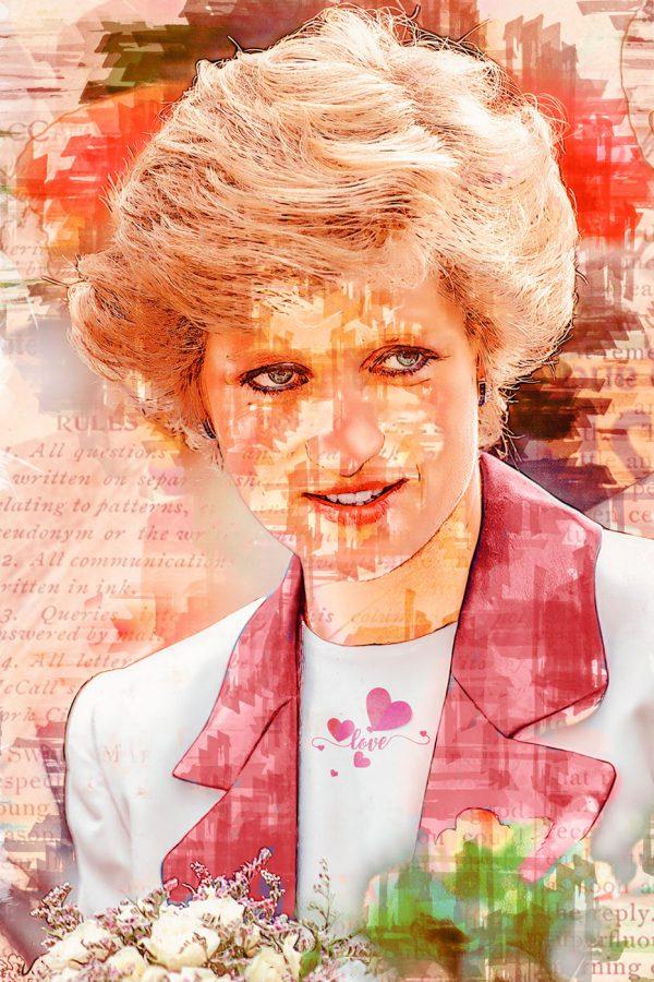 LED Bild Lady Diana
