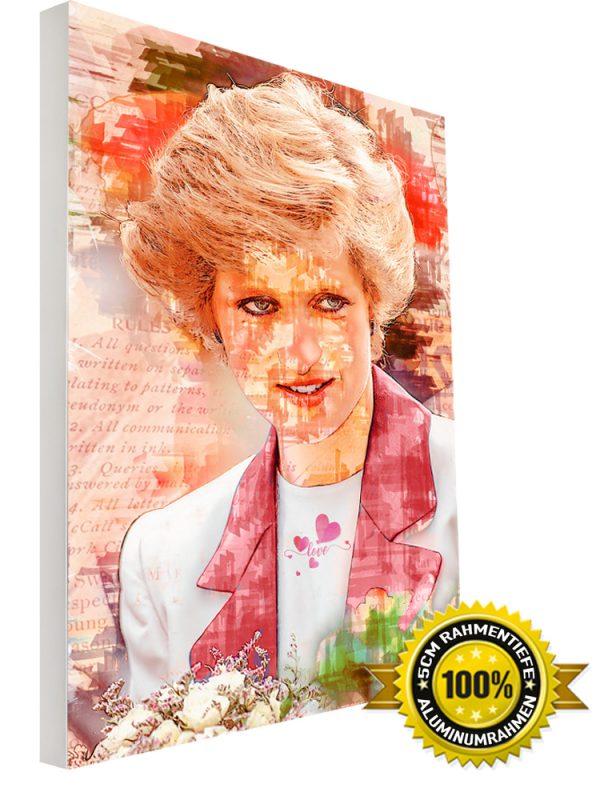 Wandbild Lady Diana LED