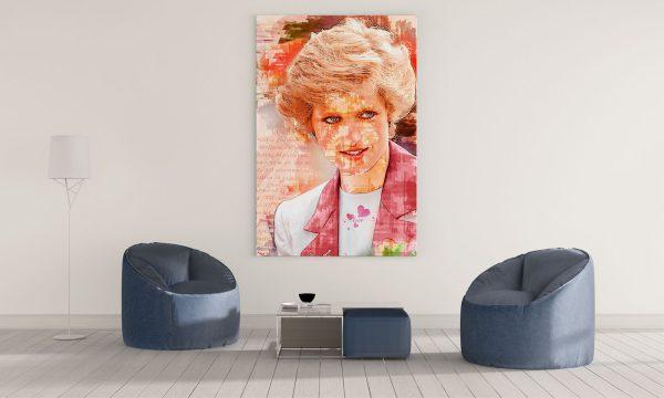 LED Bild Prinzessin Diana