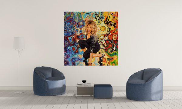 LED Bild Tina Turner Wandbild