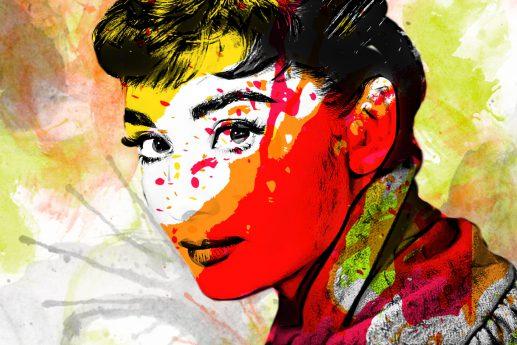 Wandbild Audrey Hepburn