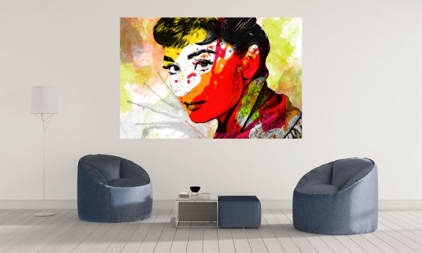 LED Bild Audrey Hepburn