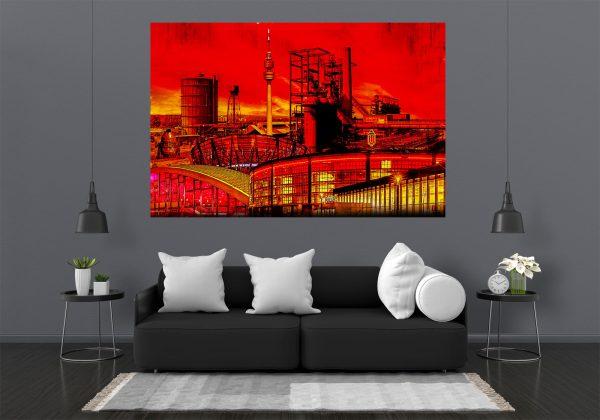 LED Bild Dortmund Collage