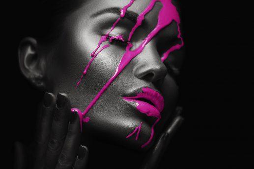 LED Bild Pink Face