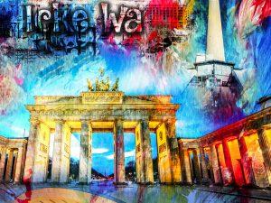 LED Bild Berlin Wall Art