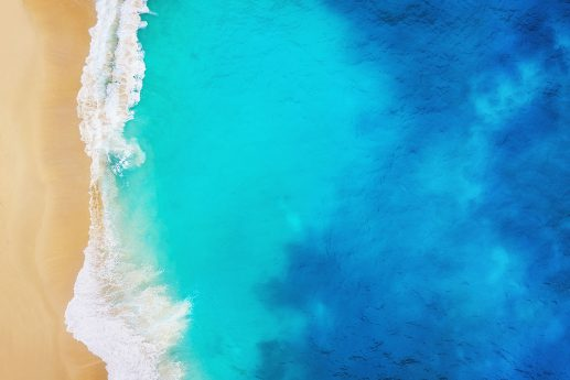 LED Bild Beach Blue