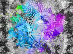 LED Bild Budha