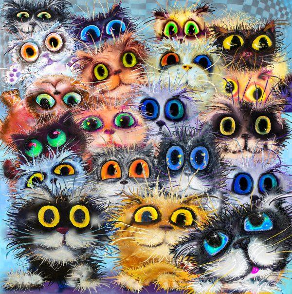 LED Bild Cats