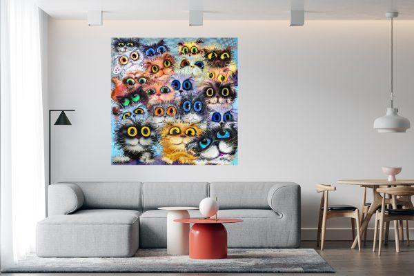 Wall Art Cats LED Bild