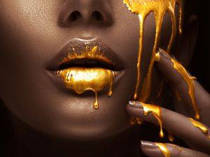 LED Bild Golden Face