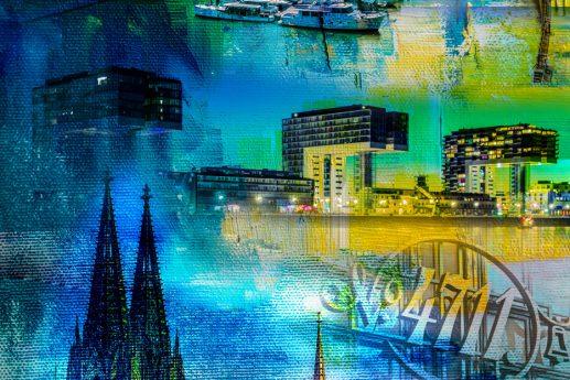 LED Bild Köln Colage