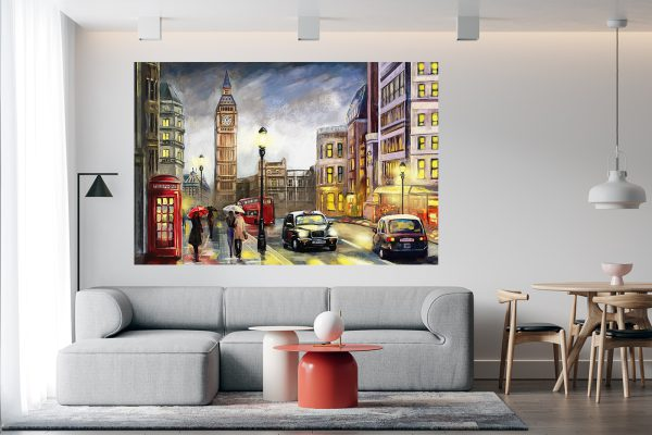Wall Art LED Bild London