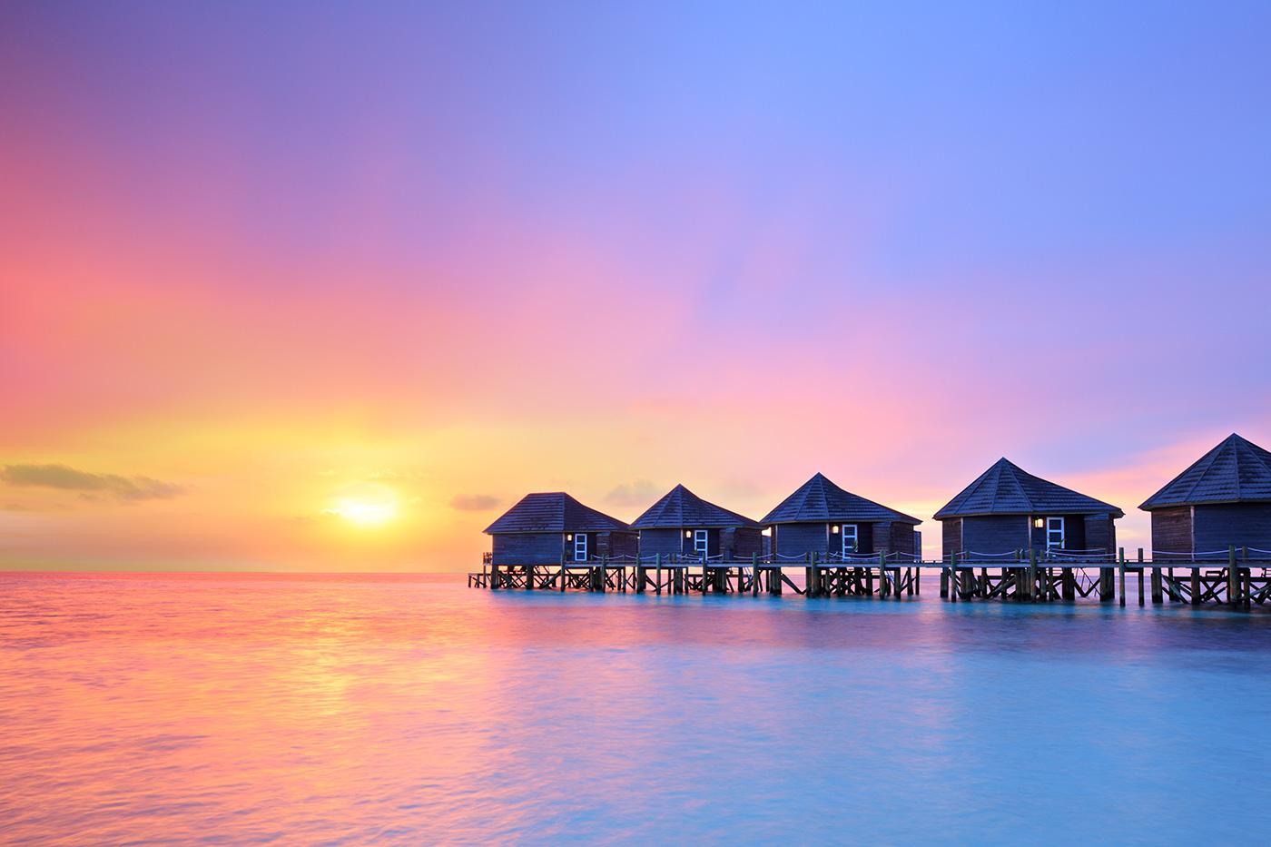 LED Bild Malediven