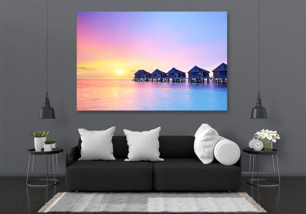 LED Bild Sonnenuntergang
