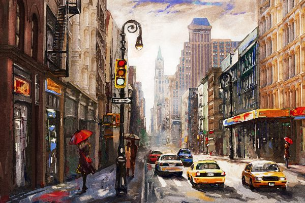 LED Bild Manhattan Art