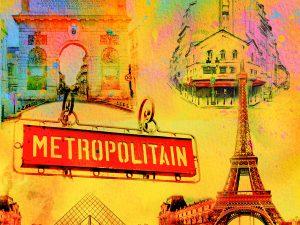 LED Bild Paris Metropolitan