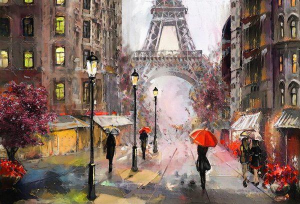 LED Bild Paris Art