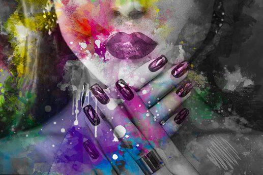 LED Bild Purple Lady