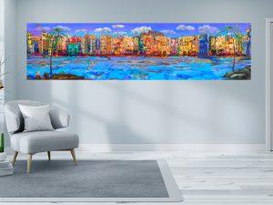 Panorama LED Bild Skyline