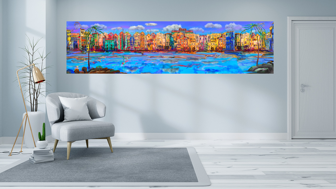 Panorama LED Bild Skyline