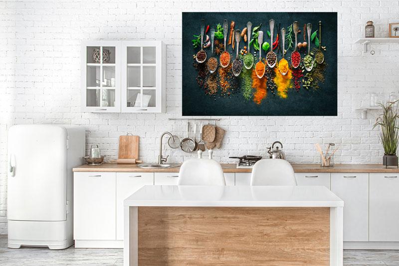 LED Bild für die Küche