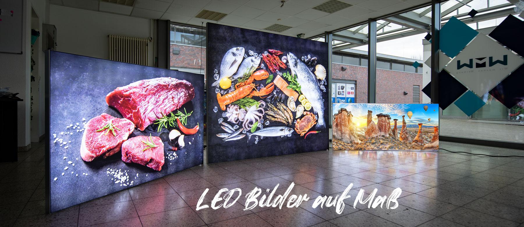 LED Textilspannrahmen auf Maß