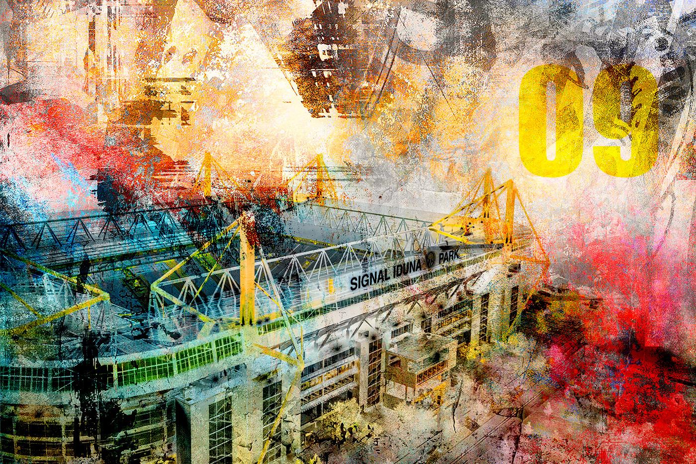 LED Bild Dortmund Stadion